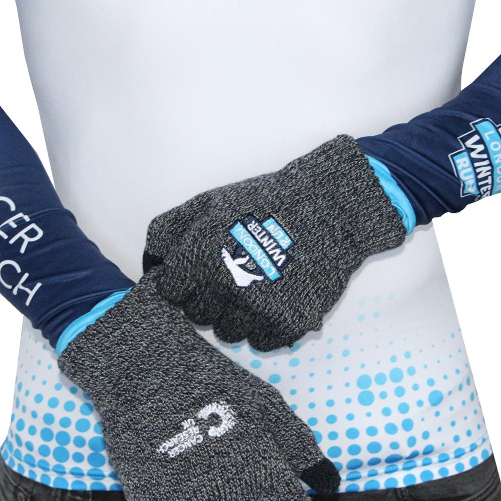 656d95a70a119e 2019 White Cancer Research UK London Winter Run Gloves | Official ...