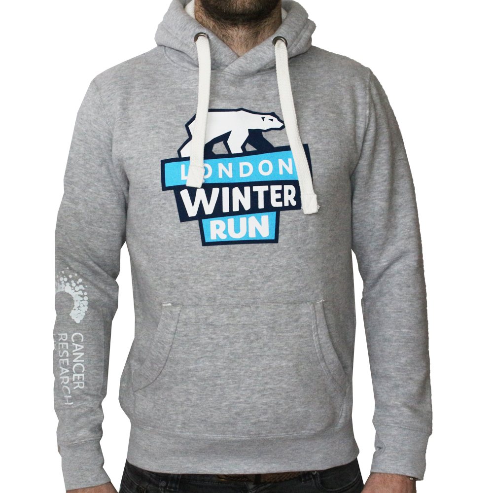 dfae8cc635e11e 2019 Cancer Research UK London Winter Run Pull Over Grey Hoody ...